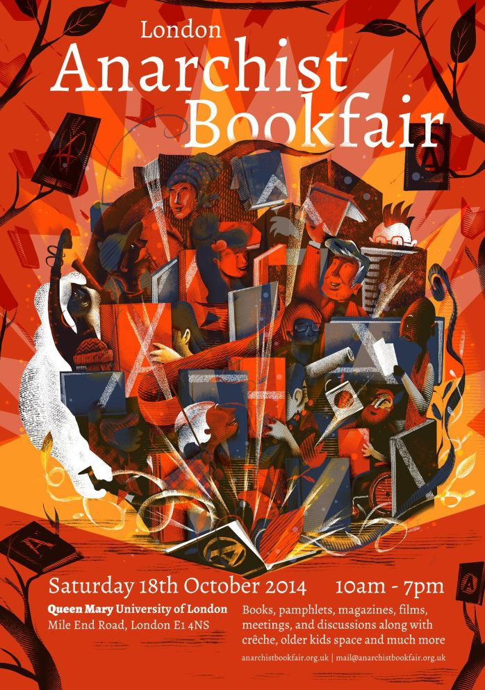 anarchist bookfair 2014 poster